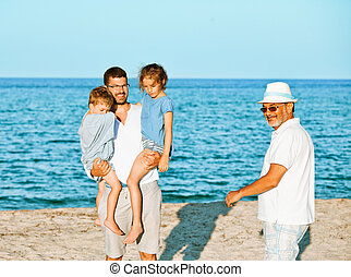 Family sea vacation generations
