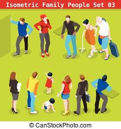 Family Set 03 People Isometric