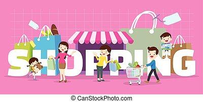 family shopping concept