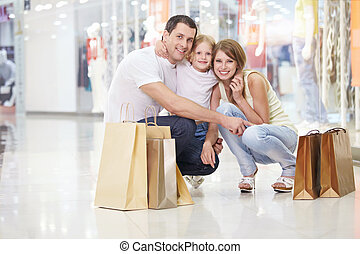 Family Shopping - Families with a child in the store