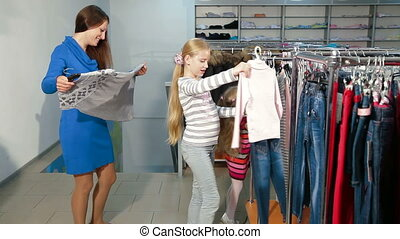 Family Shopping For Clothes