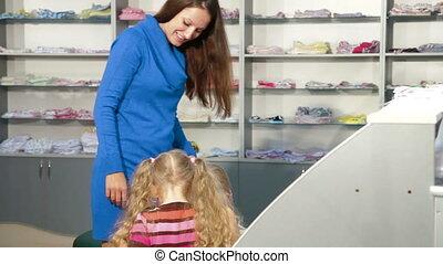 Family Shopping For Girls Clothing