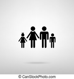 Family sign. Vector illustration - Family sign. Black with...