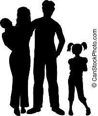 Family - Silhouette of a family