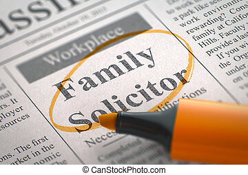 Family Solicitor Hiring Now. 3d.