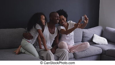 Family spending time at home together
