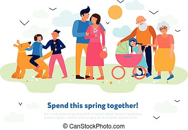 Family Spring Flat Composition