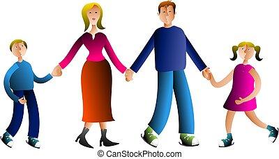 Family - family holding hands