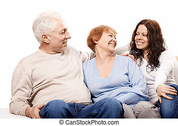 Family - Happy family on a white background