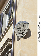 Family stone coat of arms in Florence