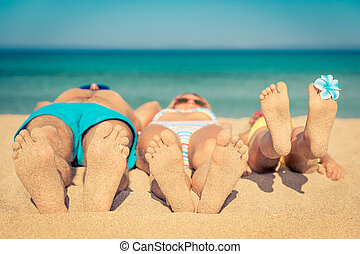Family Summer Vacation Beach Sea