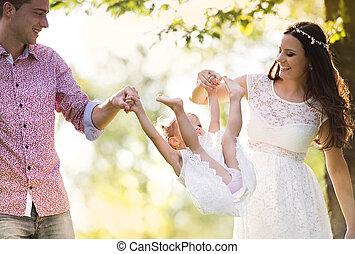 Family summer walk