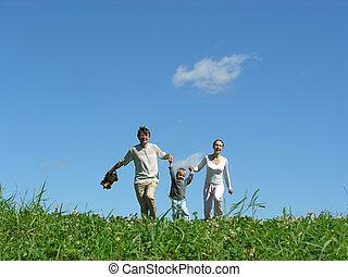 family sunny day