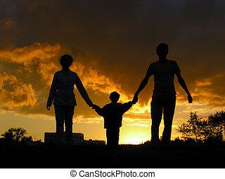 family sunset