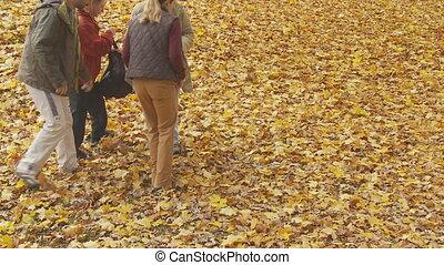 family taking a break in autumn part I