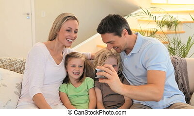 Family taking a picture