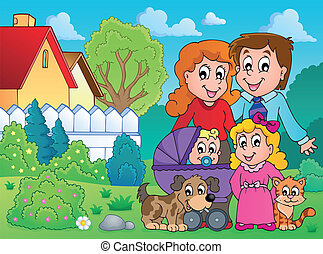 Family theme image 4 - eps10 vector illustration.