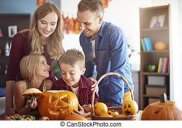 Family time during the Halloween