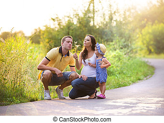 Family time in nature