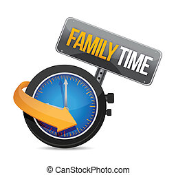 family time watch illustration design