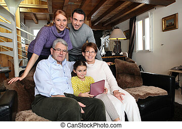 family together at home