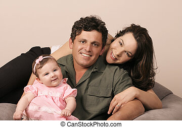 Family Togetherness - Family - Mum, Dad and baby girl 5mths....