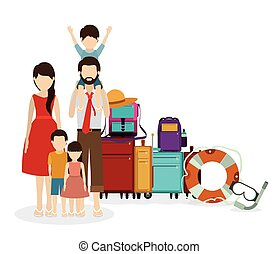Family Travel Vector Clipart Royalty Free 12329 Clip