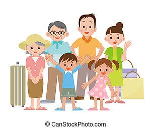 Illustration Of Family Travel Clipart