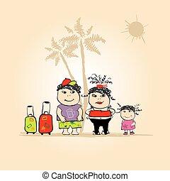 Family travel, summer holiday