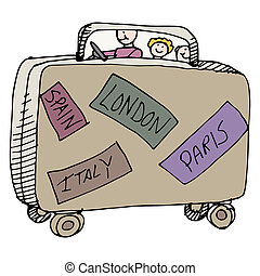 Family Travelers - An image of a family of travelers in a ...