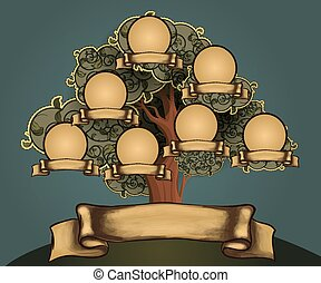 Family tree design template
