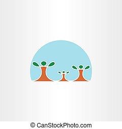 family tree icon vector symbol