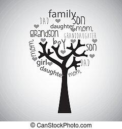 family tree design , vector illustration