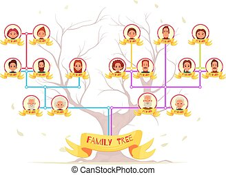 Family Tree Infographic Avatars