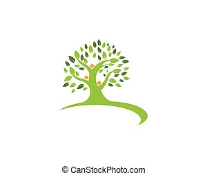 family tree logo template vector illustration
