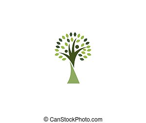 Family tree people logo and symbol