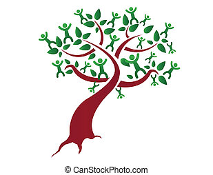 Family tree, relatives illustration design isolated over a...