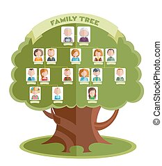 Family Tree Template - Family tree template with portraits...