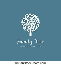 Family tree with hearts