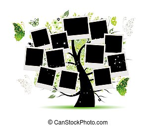 Family tree with photo frames for your design