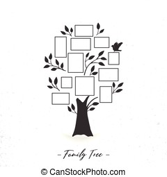 Family tree with photo frames