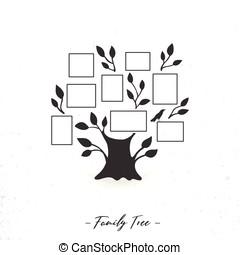 Family tree with photo frames
