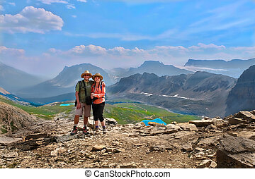 Family vacation in Canadian Rockies.
