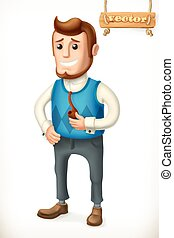 family., vector, father., pictogram, 3d