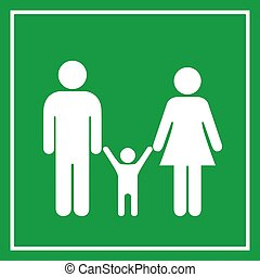 Family vector sign