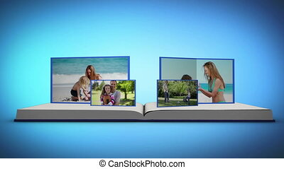 Family videos on a book