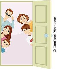 Family Welcome Door