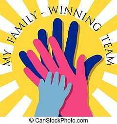 family-winning, mój, drużyna