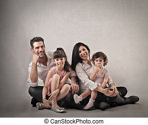 Family with 2 kids