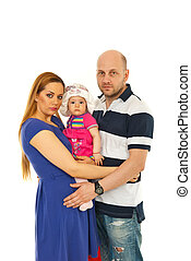 Family with baby girl
